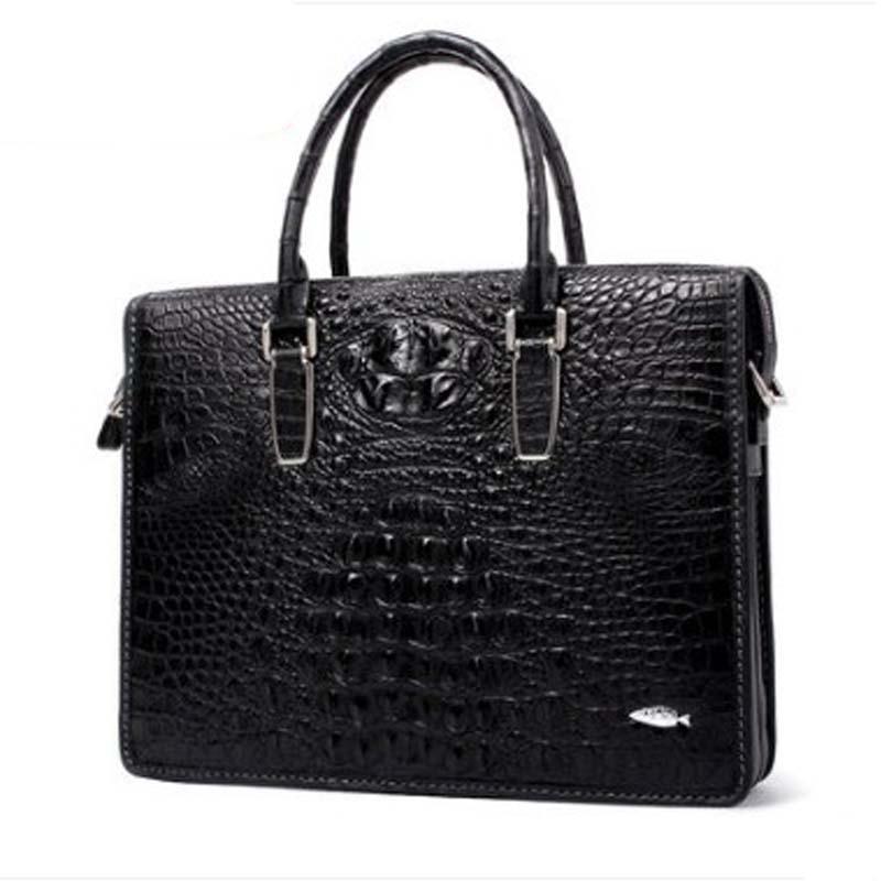 yuanyu Crocodile leather handbag for man import crocodile leather handbag  Crocodile leather single-shoulder bag men briefcase