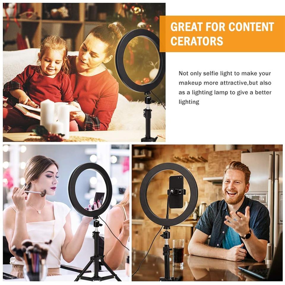 160CM Tripod Stand Selfie Circular Video Ring Light Led Photographic Phone Camera Lamp Studio Lighting Youtube Micphone Fill enlarge