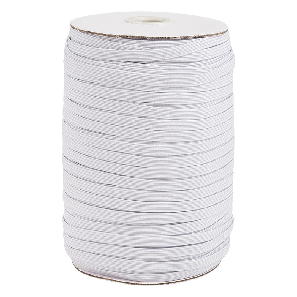 4 мм 5 мм 6 мм 8 мм 10 мм 12 мм 14 мм плетеная катушка белая плоская эластичная лента для шнура швейная резиновая растягивающаяся веревка для рукод...
