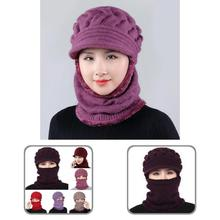 Braided  Useful Solid Color Keep Warm Knitted Hat Knitted Fabric Adult Hat Wind-proof   for Outdoor