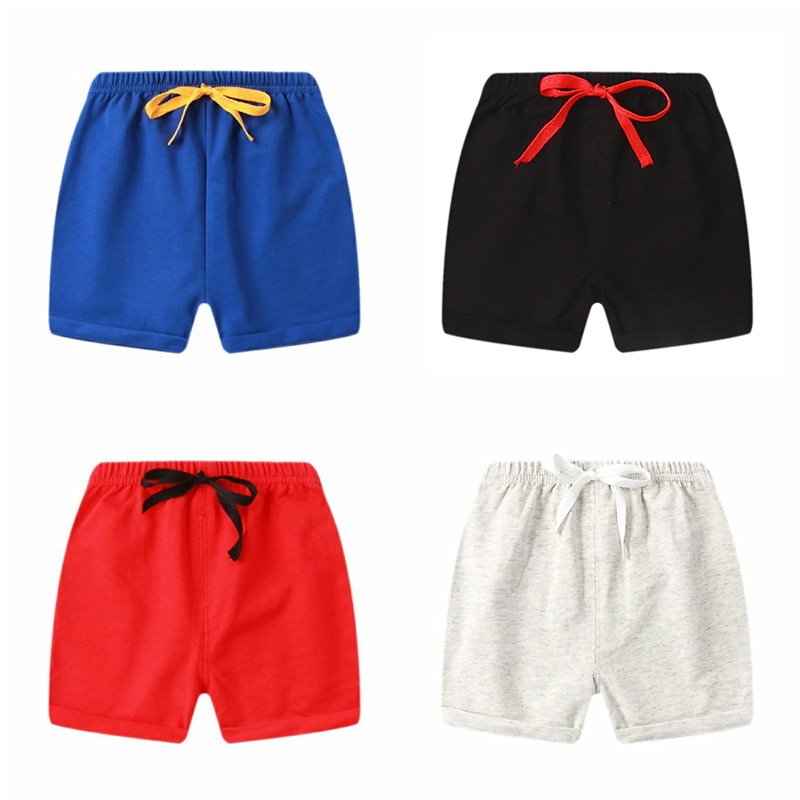 Summer 1-5Y Children Shorts Cotton Shorts For Boys Girls candy color Shorts Toddler Panties Kids Bea