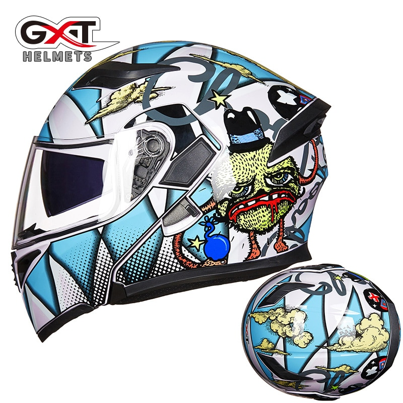 GXT 902 Motorcycly full mask for men and women high safety Modular flip up motorcycle helmet casco moto capacete motocross helm