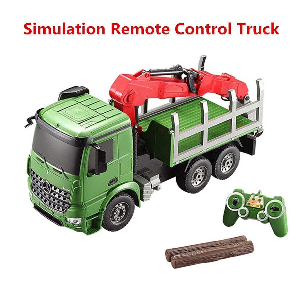 2.4G 6CH Large Size simulation remote control truck  Engineering  Vehicle Transport Car educational learning Toy Kid Best Gifts