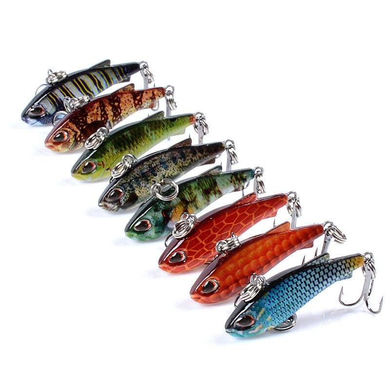 4,2g 4,2 cm hundimiento de Señuelos de Pesca vibración Color plástico decoración Mini Bass percha carpa señuelo de pesca invierno buceo pesca cebo