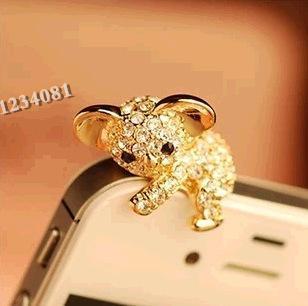 Модные Стиль милый коала дизайн Мобильный телефон ушной пинцет-Пылезащитная заглушка для смартфонов милые аксессуары для мобильных телефонов-1