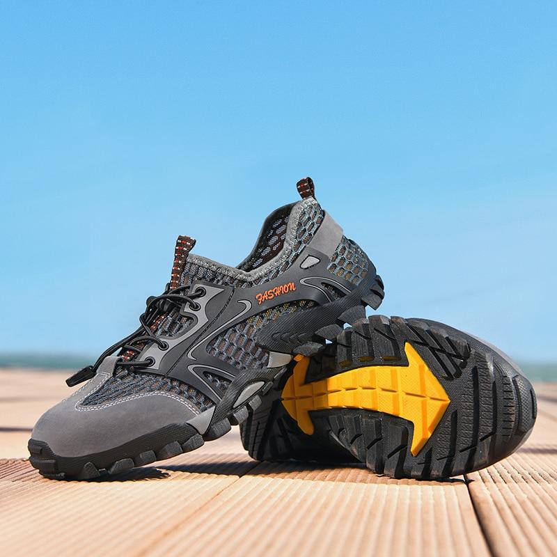 Aqua mens water Men Shoes Sneakers chunky Summer Swim Drain hole sole Rubber Non-slip On Zapato Agua Hombre Deportivas