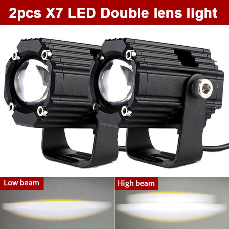 X7-مصباح إضافي لعدسة الدراجة النارية ، 90 واط ، 18000 لومن ، إضاءة عالية/منخفضة الشعاع ، مصباح ضباب وامض ، لسيارات BMW و Yamaha و ApriliaHonda و Kawasaki