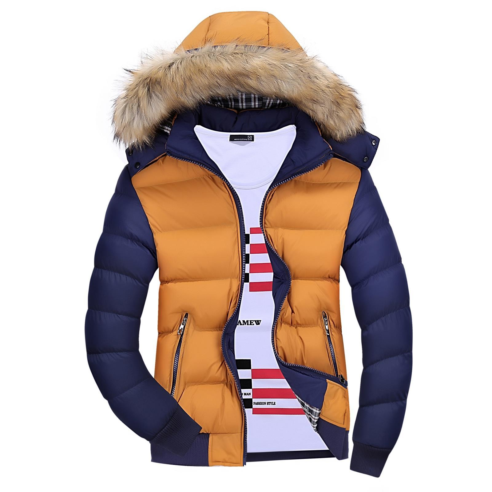 Мужская зимняя стеганая теплая с капюшоном хлопковая стеганая мужская хлопковая стеганая куртка мужские парки мужская зимняя куртка с кап...