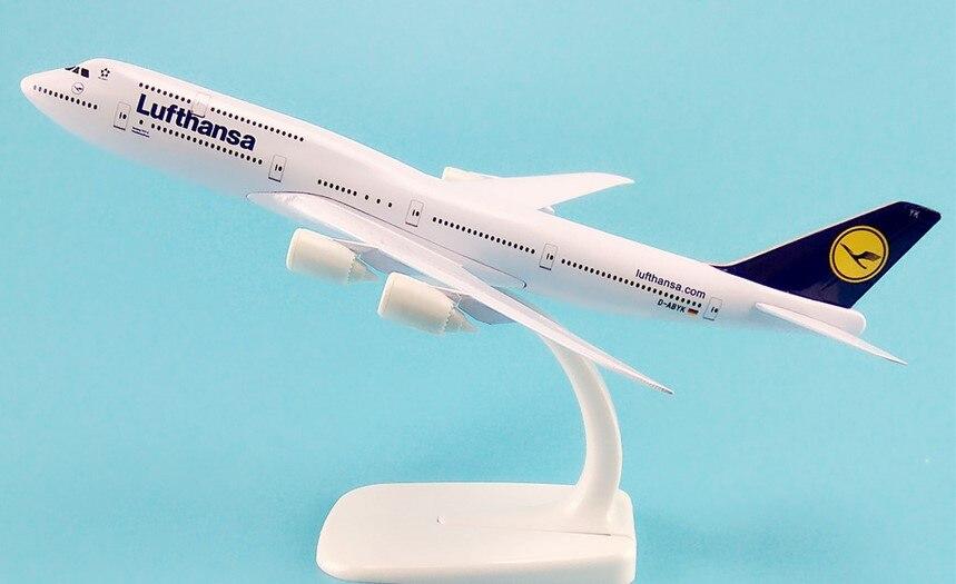 20CM Lufthansa avión modelo B747 avión Diecast modelo colección Decoración Juguetes de...