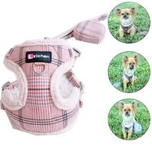 Soft Pet Dog Harnesses Vest Warm Dog Harness Chihuahua Yorkshire Small Dogs Cat Harness and Leash Se