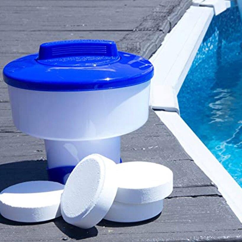 Esterilizador flotante para piscina, dispensador de tabletas de cloro de 5 pulgadas para bañera, accesorios de Herramientas de limpieza para piscinas, resortes calientes