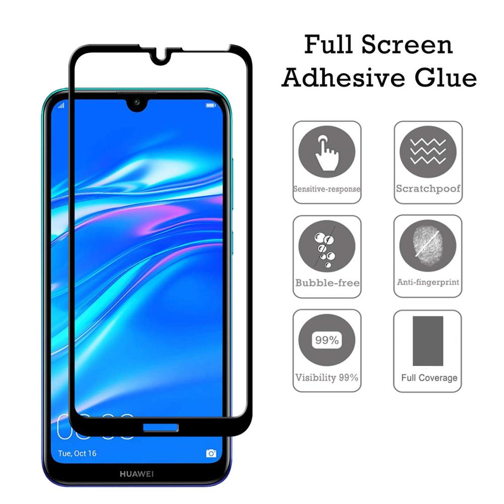 For Huawei Y7 pro (2019) Screen Protector Tempered Glass Y7 Pro Full Coverage 2.5D Clear Film Glass