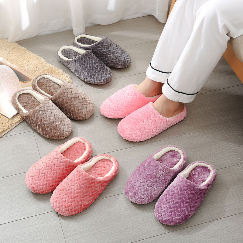 new fashion winter women men slippers bottom soft home shoe cotton thick slippers indoor slip on comfortable shoe slippers Women Comfortable Slippers Beautiful Bottom Soft Durable Home Shoes Practical Simple Cotton Indoor Slip-On Slippers High Quality