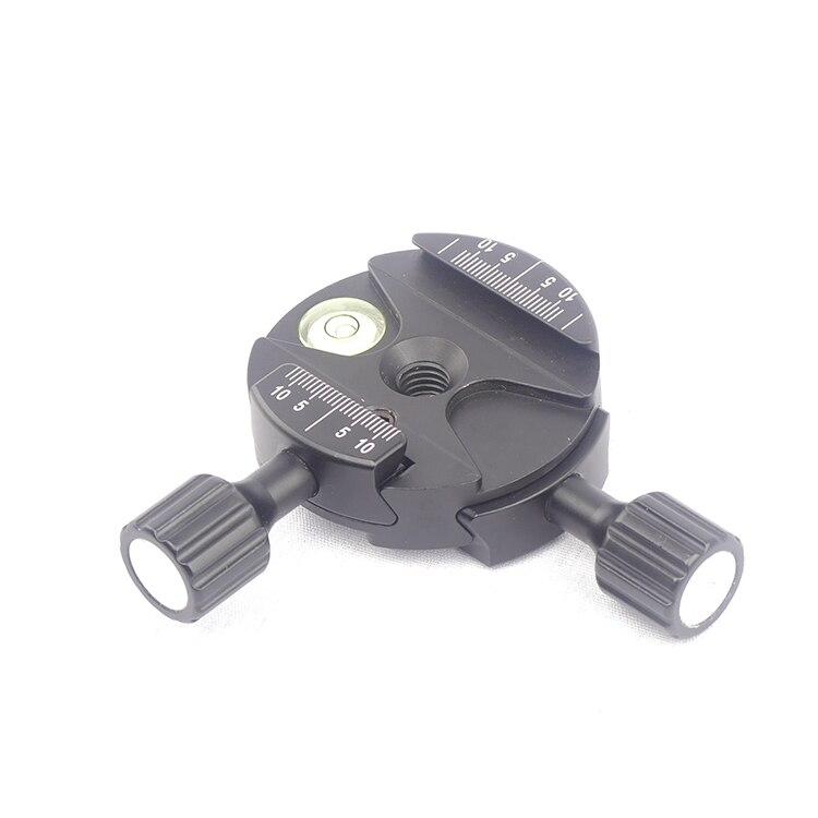 Самый подходящий FC-DDB60 двунаправленный 90 градусов быстросъемный зажим с винтовой ручкой двойной зажим Arca-Swiss совместимая шаровая Головка шт...