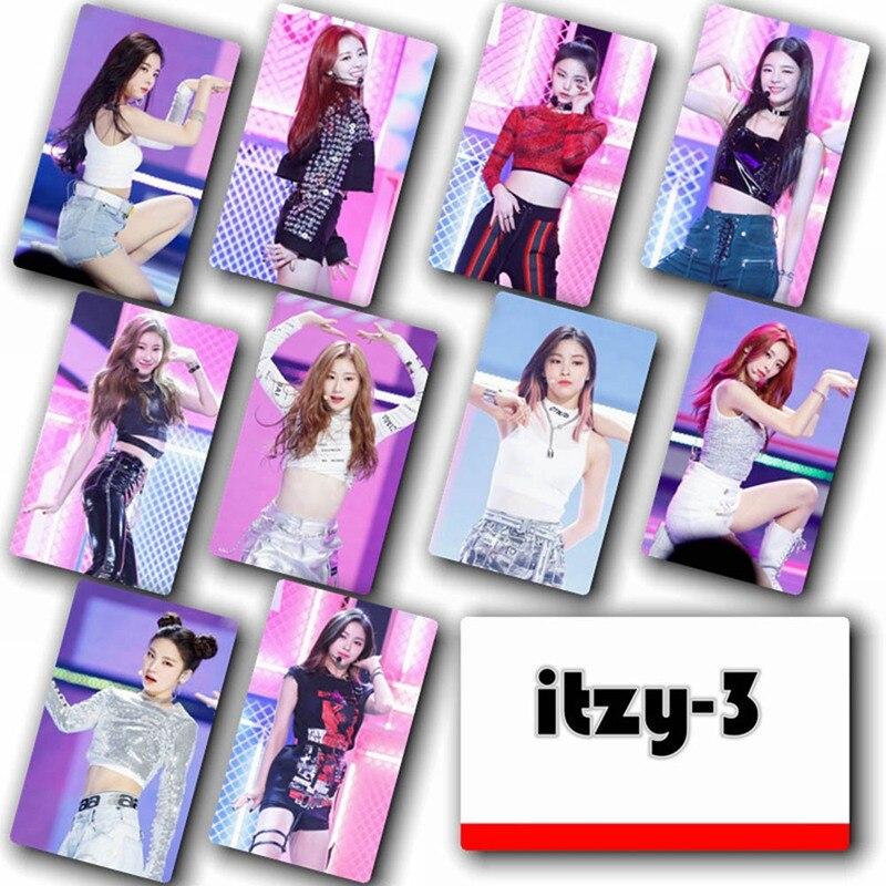 10 unids/set ITZY Sticky Crystal foto tarjeta fotografía HD tarjeta pegatina cartel cristal tarjeta pegatinas