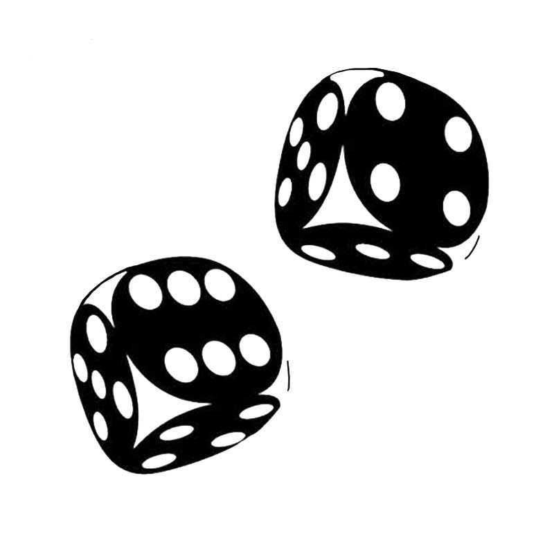 Pegatina divertida para coche Casino Poker Dice vinilo calcomanías impermeables ventana parabrisas accesorios PVC 16cm X 11cm