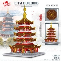 lei feng tower architecture building set model kit steam construction toy gift for kids and adults 3235 pcs