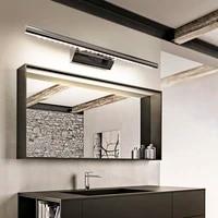 Applique murale LED en aluminium et acier inoxydable  3 5 7 W  luminaire pour miroir de salle de bain  lumiere blanche chaude  lampe avec interrupteur fixee sur mur  accessoire fixe