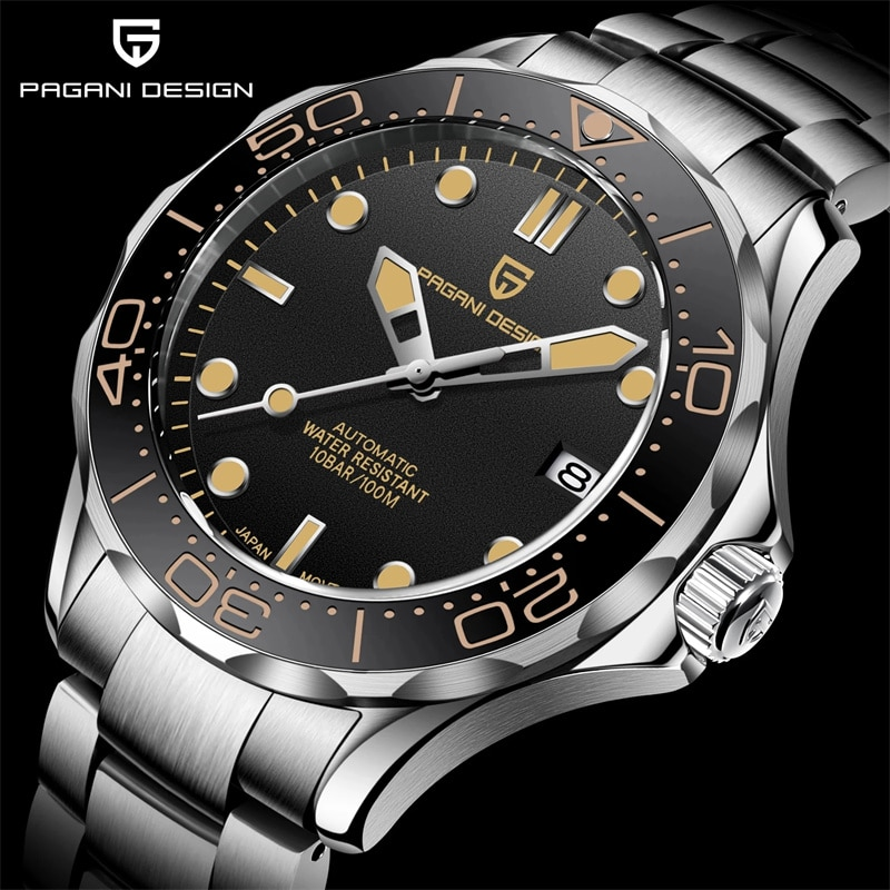 2021 New PAGANI DESIGN 007 Men's Mechanical Wristwatches Luxury Automatic Watch For Men Luminous Diving Watches Japan NH35 Clock