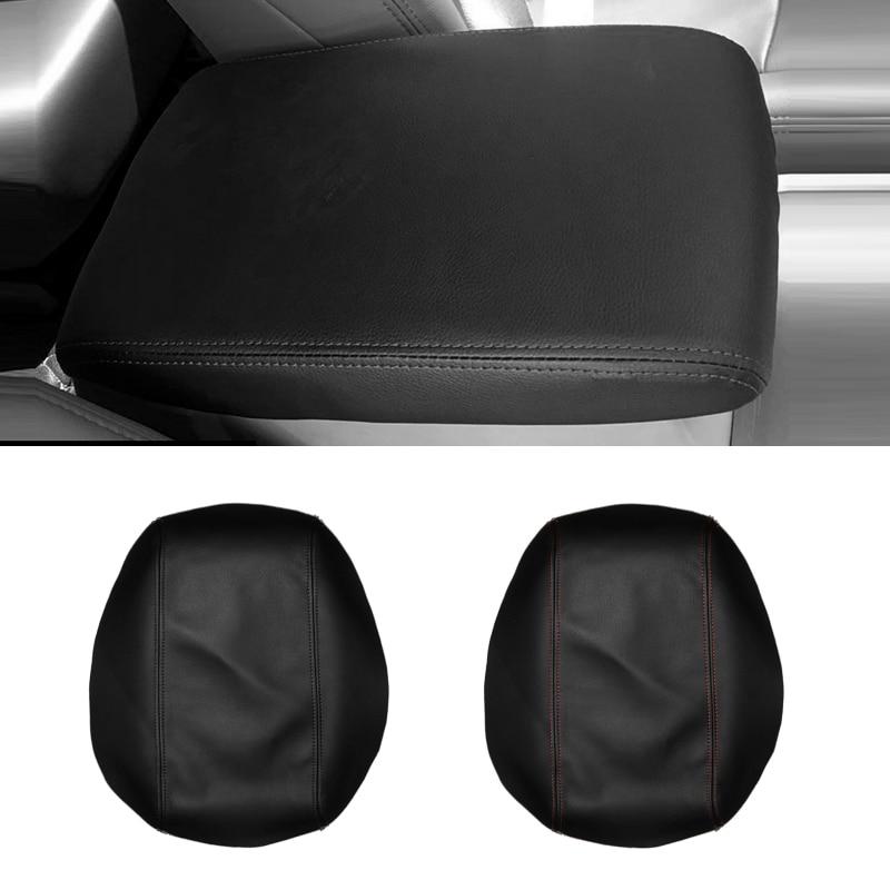 Para Toyota Highlander 2008, 2009, 2010, 2011, 2012, 2013, consola central de cuero de microfibra, cubierta de compartimento de reposabrazos, protección embellecedora