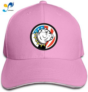 American Flag Bull-Dog Casquette Sunhat Adjustable Sandwich Cap Baseball Hats