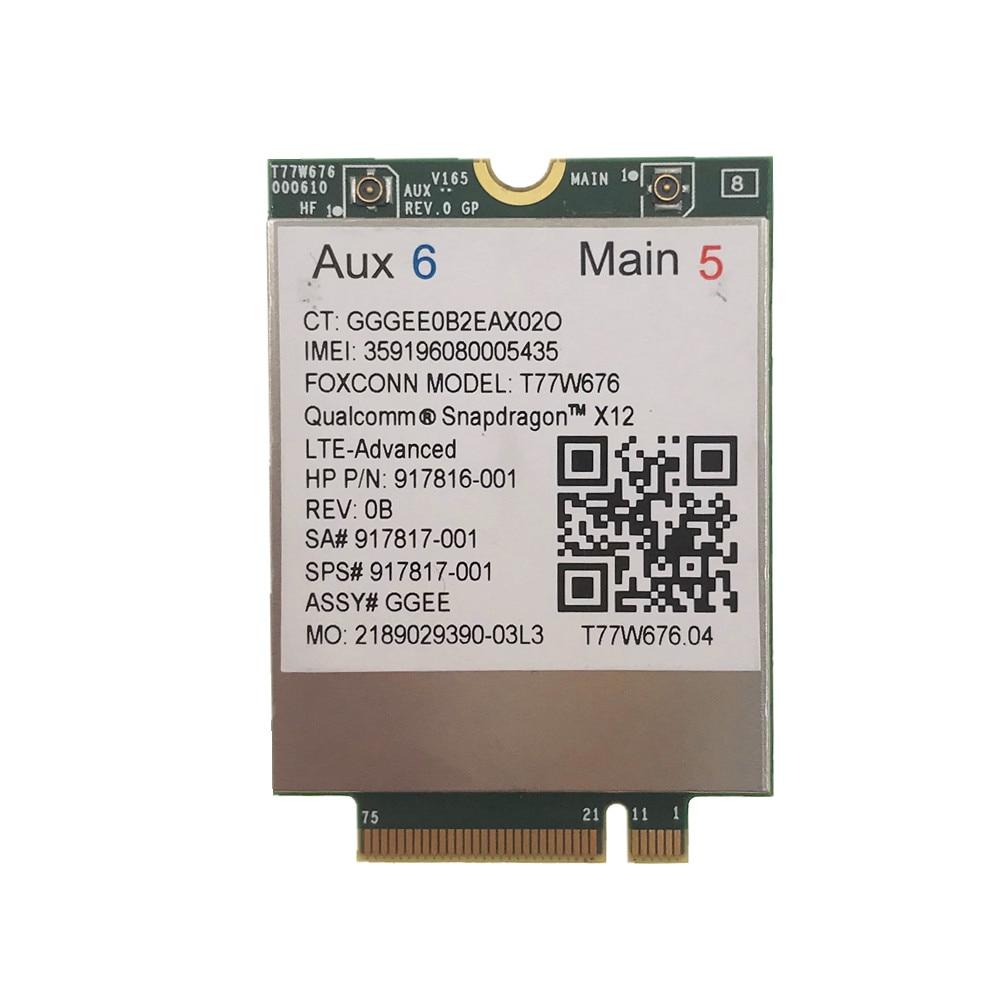 Para HP lt4220 LTE T77W676 917817-001 4G WWAN M.2 450Mbps LTE Modem Elite X2 1030 G3 EliteBook X360 1030 G3
