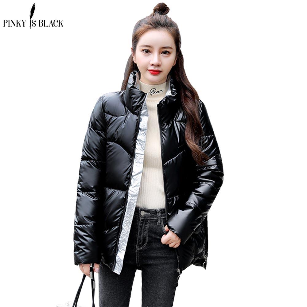 PinkyIsBlack 2020 New Winter Parkas High Quality Stand Collar Coat Women Fashion Jacket Winter Warm Woman Clothing Casual Jacket недорого