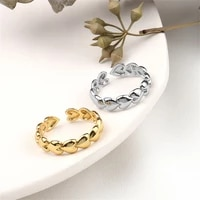 for women personality fashion open ringsilver heart connected ring wholesale