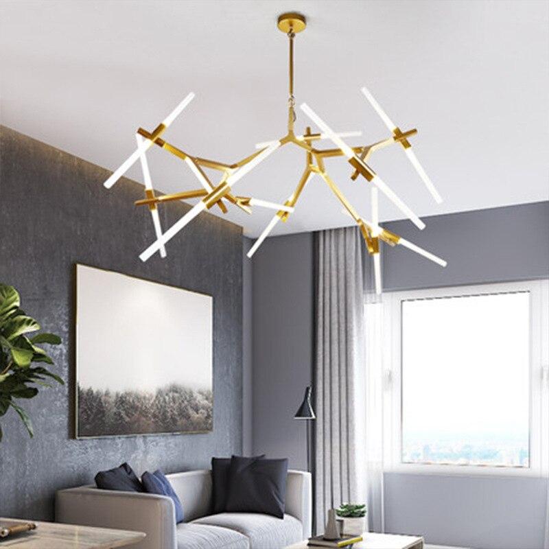 Lámpara colgante de resina LED moderna lámparas colgantes de espiga suspensión decoración del hogar comedor nórdico sala de estar iluminación Industrial