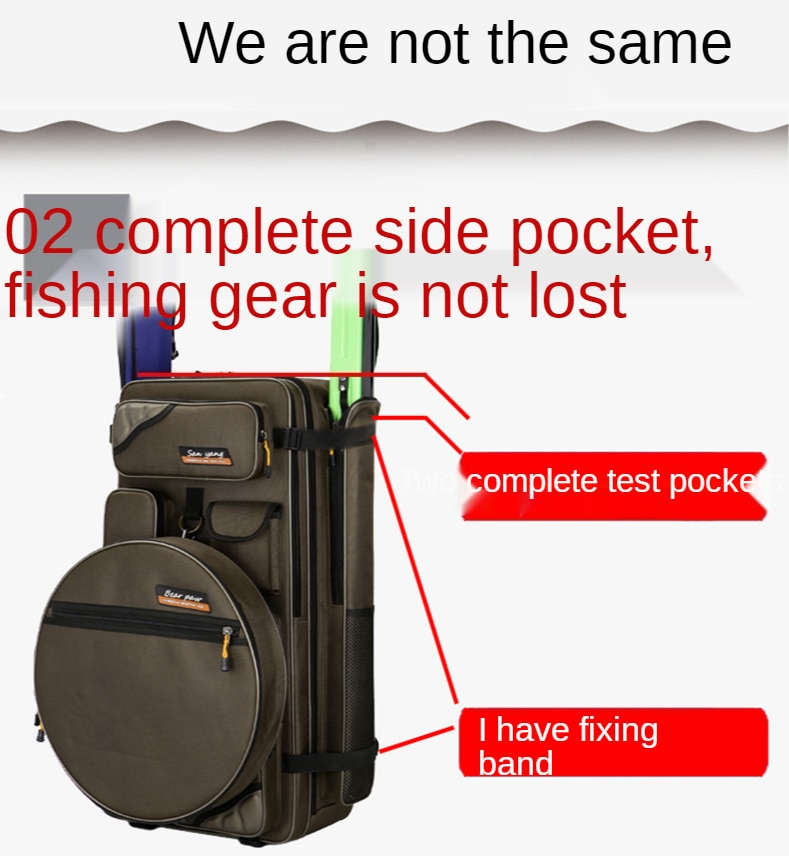 Fishing Chair Bag Thickened Fishing Gear Bag Fishing Chair Bag Waterproof Fishing Rod Bag Multifunctional Fishing Backpack enlarge