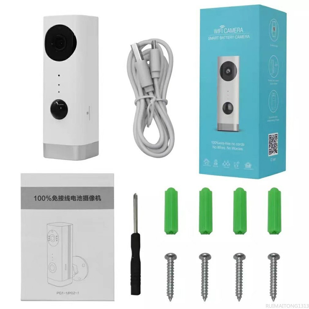 Rechargeable Battery Powered IP Camera Smart Home Indoor Security 1080P WIFI Camera Wide Angle Motion Detection enlarge