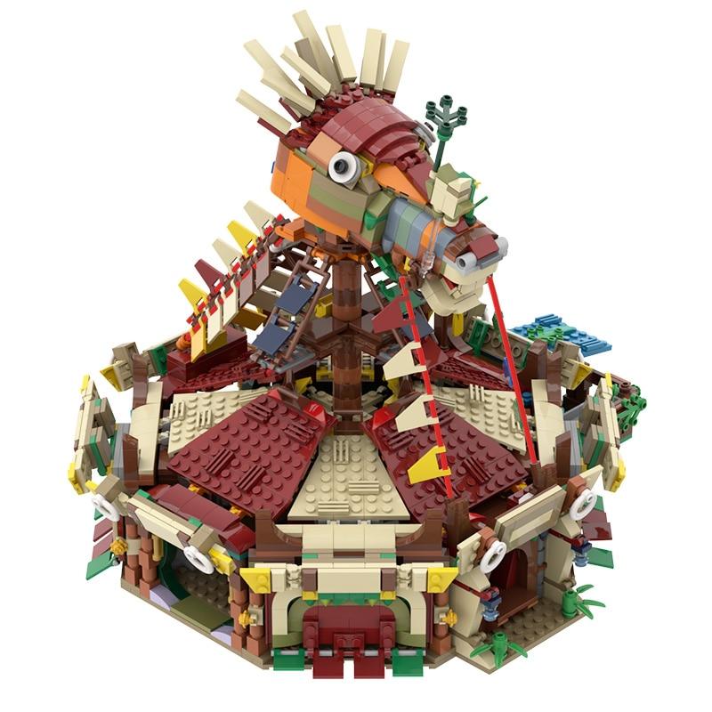 MOC الطوب لعبة يتنفس البرية بنة الطوب نموذج الإمبراطور الأحرف DIY بها بنفسك بناء اللعب للأطفال الأولاد هدايا 2015 قطعة