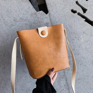 Korean Style Bucket Bag Fashion All-Match Simple Mori Style Women's Bag Retro Mini Messenger Bag Online Red Ocean Style Shoulder