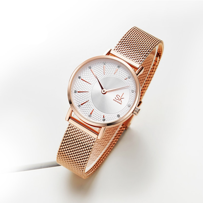 Luxury Quartz Wristwatch Women Fashion Rose Gold Silver Ladies Bracelet Watches Dress 2019 Waterproof Wacth montre femme noir enlarge
