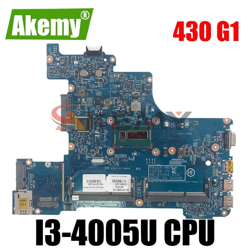 12239-1N اللوحة 48.4YV10.01N ل HP Probook 430 G1 اللوحة المحمول i3-4005u 739851-501 739851-001 739851-601 100% اختبار