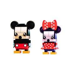 2019 Brickheadz Mini Mickey Figuren DC Justice Marvel Ziegel Köpfe Eisen Mann Spinne Mann Bausteine Kinder Spielzeug