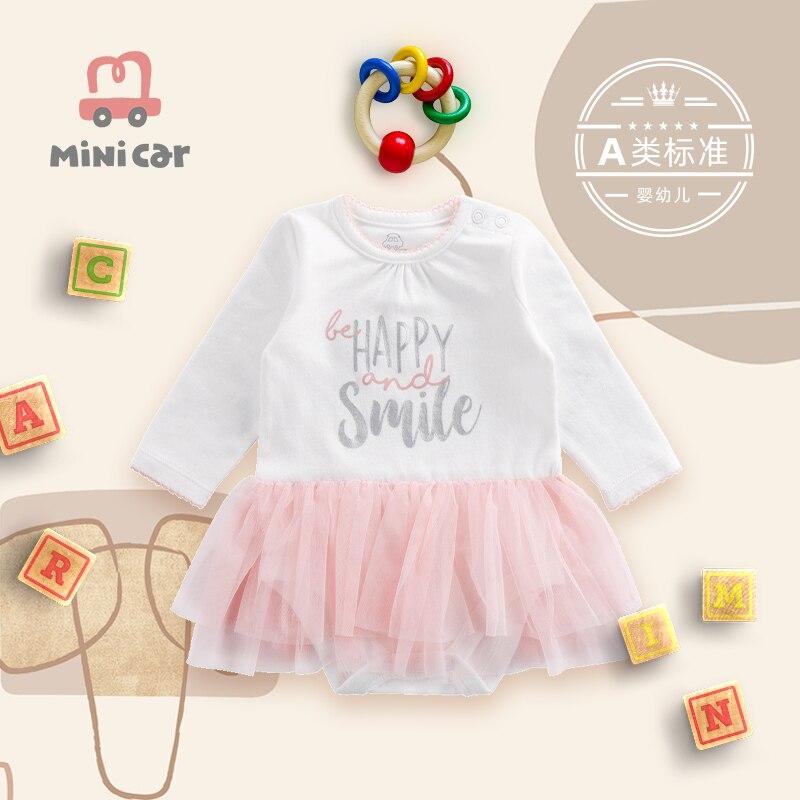 Детское боди в виде автомобиля, милая розовая треугольная кофта, костюм для скалолазания, весенняя и осенняя летняя одежда