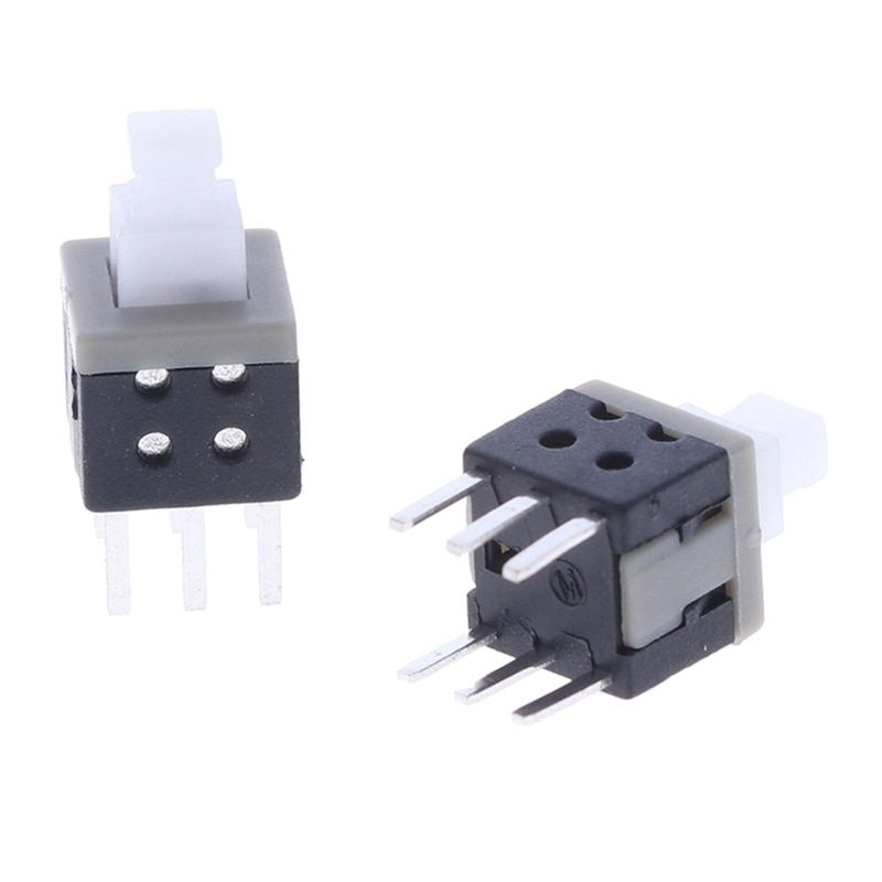 5.8X5.8MM Self-locking Switch Push Button Switch DIP 6 Pins Tactile Buttons 20PCS