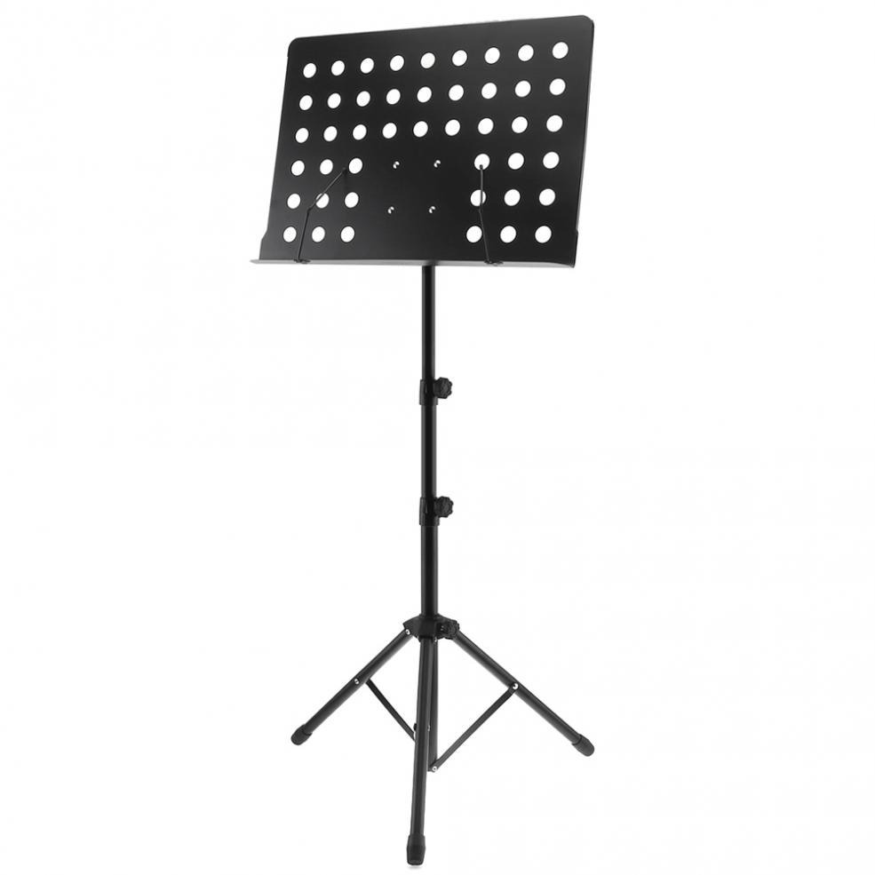 Aluminum Alloy Thickening Music Stand Tripod Stand Holder Height Adjustable with high strength Aluminum Alloy material enlarge