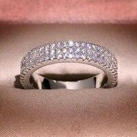 14k white gold fl diamond ring for women fine anillos de bizuteria wedding natural gemstone 14 k gold jewelry cushion zirconia