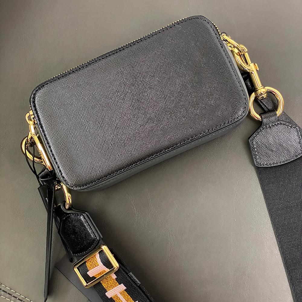 Bolsa feminina mj câmera snapshot saco cruz-corpo saco contraste cor borla pequeno saco um ombro alça larga mini bens de luxo