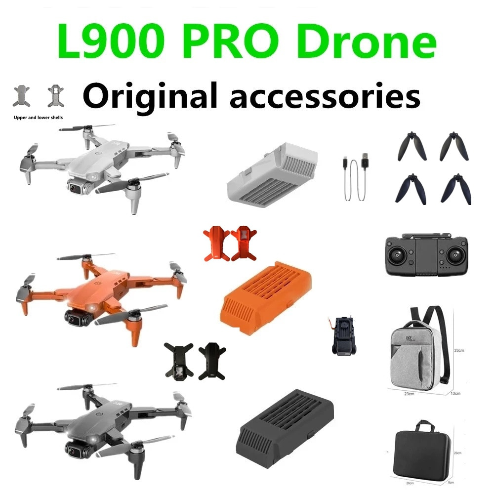 L900 Pro Drone Original Accessories Battery 7.4V 2200mAh Propeller Maple Leaf /USB Cable Use For L900 Drones Spare Parts