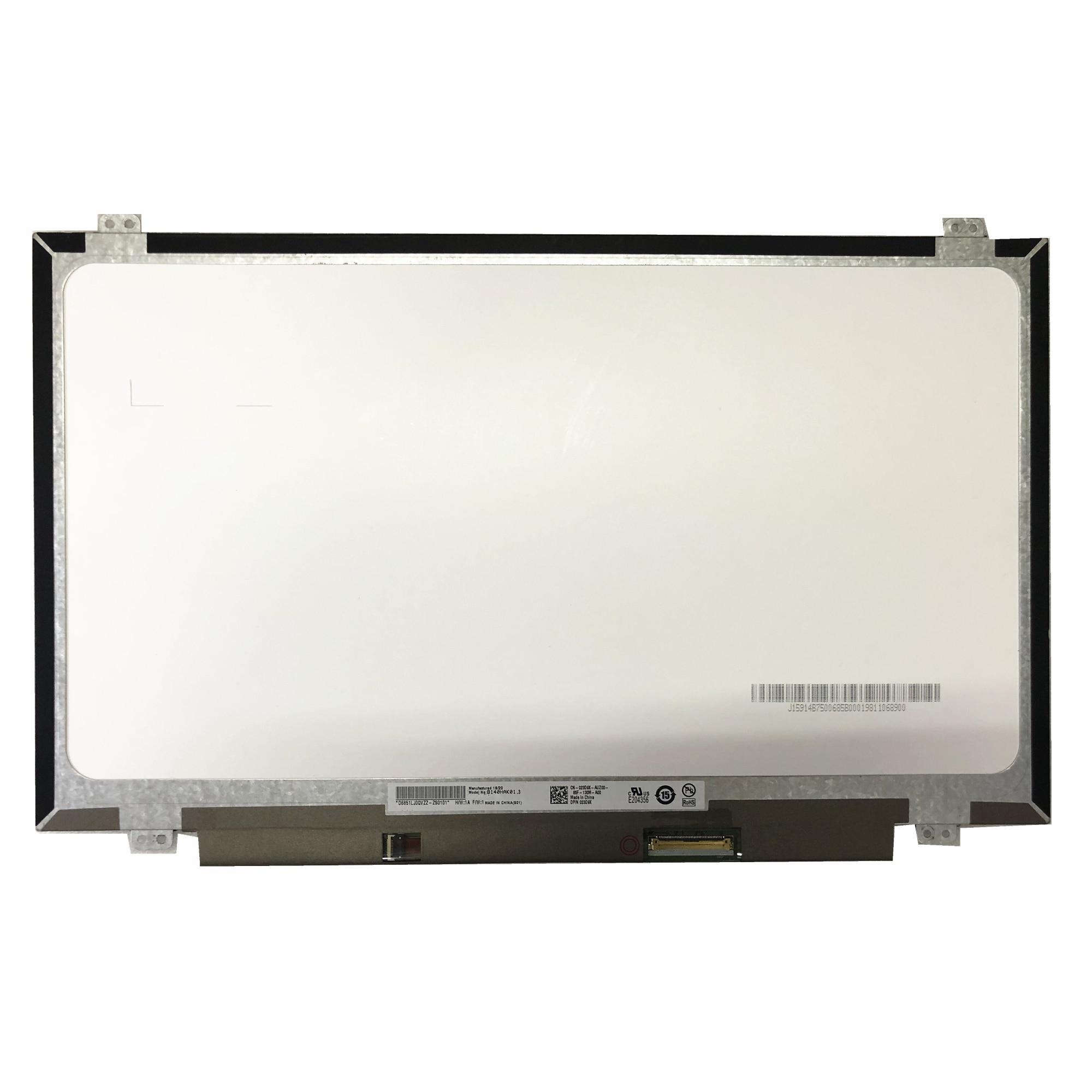 شاشة كمبيوتر محمول LED LCD تعمل باللمس ، 14.0 بوصة ، 1920 × 1080 EDP ، 40 دبوس ، شحن مجاني ، B140HAK01.3