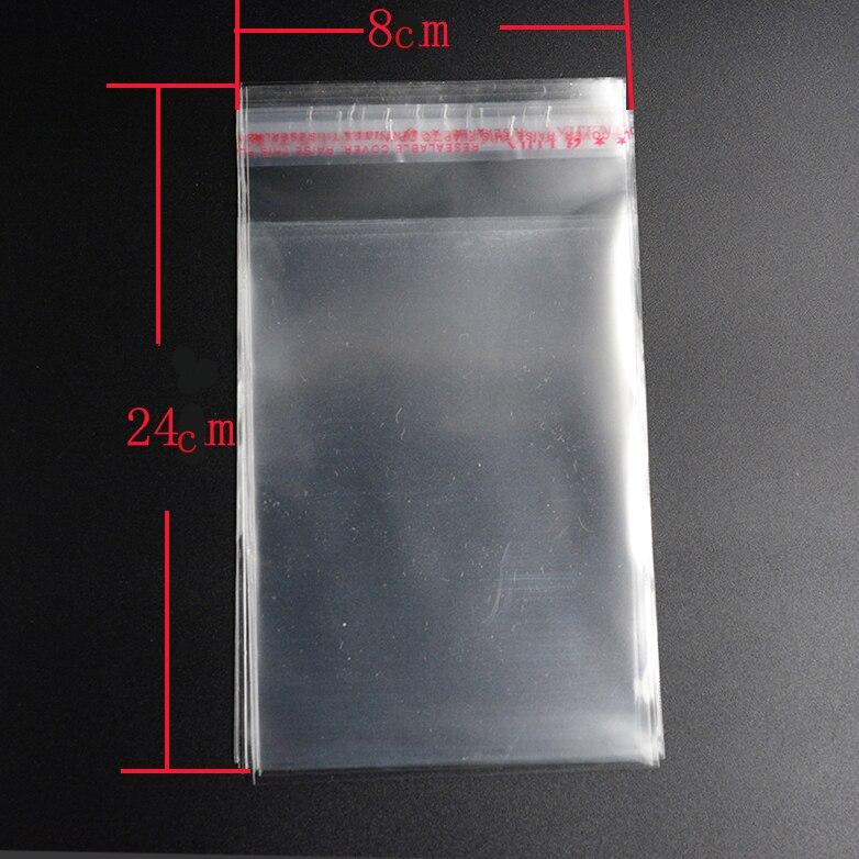 Мешки-50-шт-8-24-см-прозрачный-из-целлофана-с-застежкой-bopp-поли-мешки-прозрачный-opp-упаковка-пластиковые-пакеты-самоклеющиеся-уплотнения