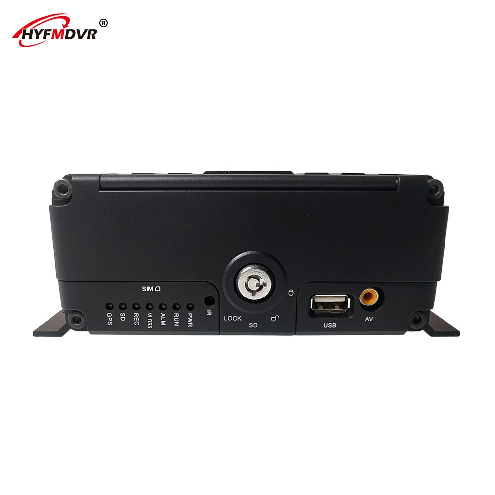 HYFMDVR fuente de fábrica 4g gps wifi móvil dvr gran voltaje dc8v-36v ahd 720p megapíxeles Monitor host semi- remolque/caja de camión
