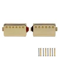 2 pcs electric guitar humbucker pickup set bridge neck pickups double coil humbucker pickups set golden color