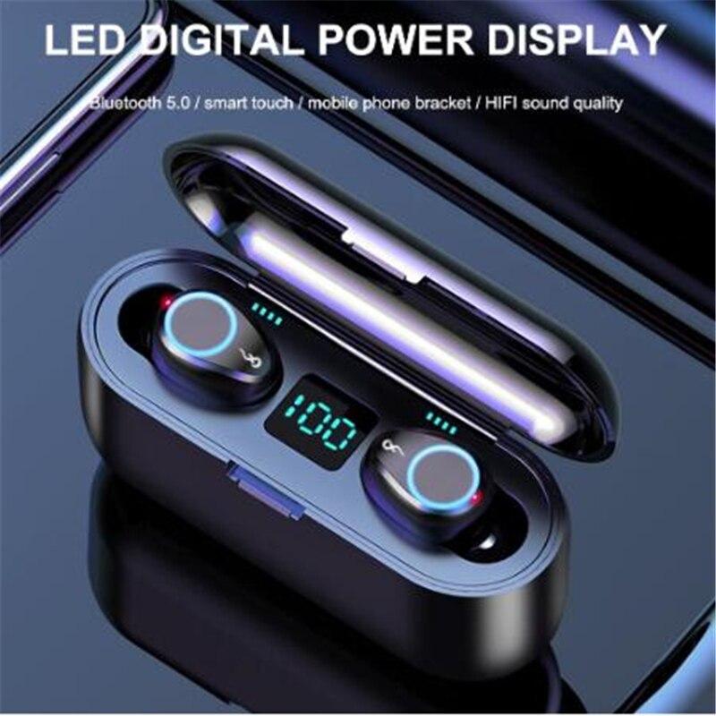 2200mAh TWS IPX7 impermeable LED auriculares inalámbricos Bluetooth V5.0 ruido cancelación HIFI dinámico sonido estéreo auriculares de doble micrófono