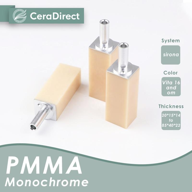 Ceradirect أحادية اللون PMMA كتلة نظام Sirona-(40/19) (5 قطع)-لمختبر الأسنان CAD/CAM