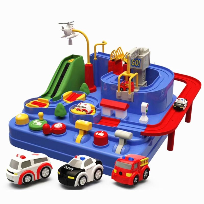 Ruedas inteligentes para aparcar y aprender garaje de lujo-Mini coche de juguete