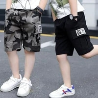 eachin baby boys shorts summer boys sport camouflage loose shorts elastic waist teens trousers children clothes for 2 14 years